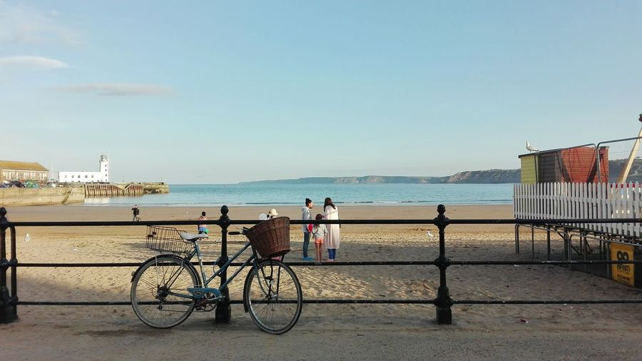 Scarborough Beach Life Summer Holidays ☀ Lifestyles Lifetime Bicycle Sand Scarborough Yorkshire