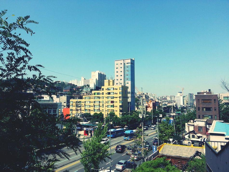 hot summer City Enjoying Life Walking