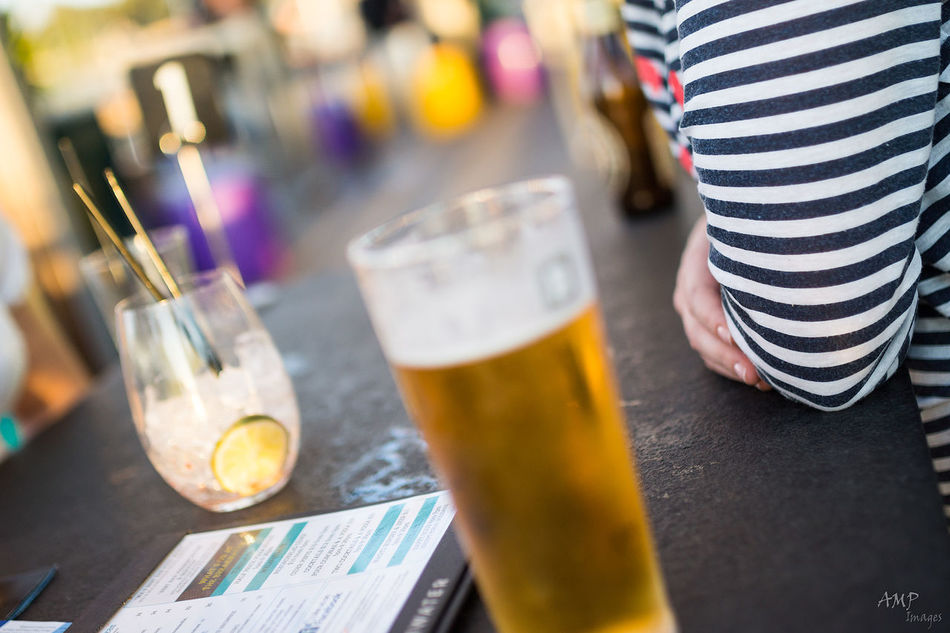 Cold beer on a hot day Alcohol Business Drink Drinking Glass Focus On Foreground Food And Drink Glass Glass - Material Refreshment Restaurant Selective Focus Still Life Table