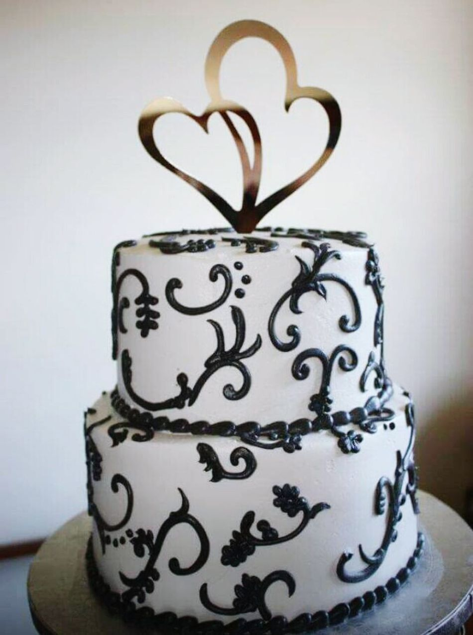 Wedding cake. Wedding Photography Wedding Day Wedding Cake Hearts Pretty My Daughter Son In Law I Do Publix Cake None Better