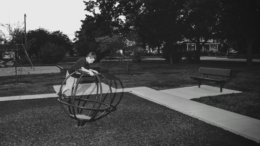 A day in the Life. August 12, 2016 Friend, Nebraska 35mm Camera Americans B&w Street Photography Black & White Camera Work Composition Dusk EyeEm Best Shots Eyeemphoto FUJIFILM X100S Full Length Graphic Elements Leading Lines Nebraska Off Camera Flash Park - Man Made Space Photo Essay Playing Rural America Selects Shoot Your Life Small Town Stories Storytelling Summertime The United States