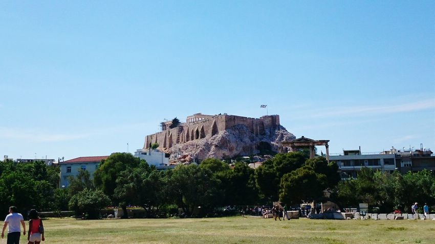 the Acropolis from the back Thats Me  taking the picture