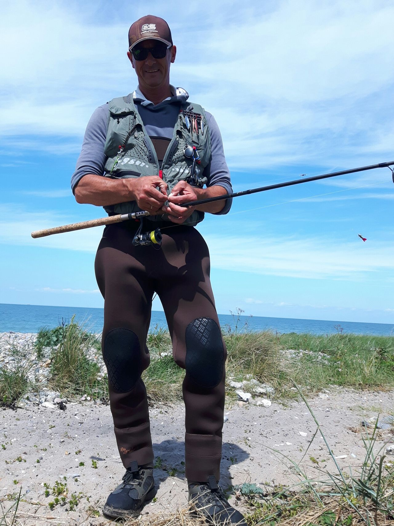 Fishingday is a good Day 🎣🐳... Gone Fishing Baltic Sea Fehmarn Sea Water Only Men Front View Standing One Man Only Cloud - Sky Mid Adult Men Holding Beach Men Adult Day Horizon Over Water Outdoors Fisherman One Person People Adults Only Full Length