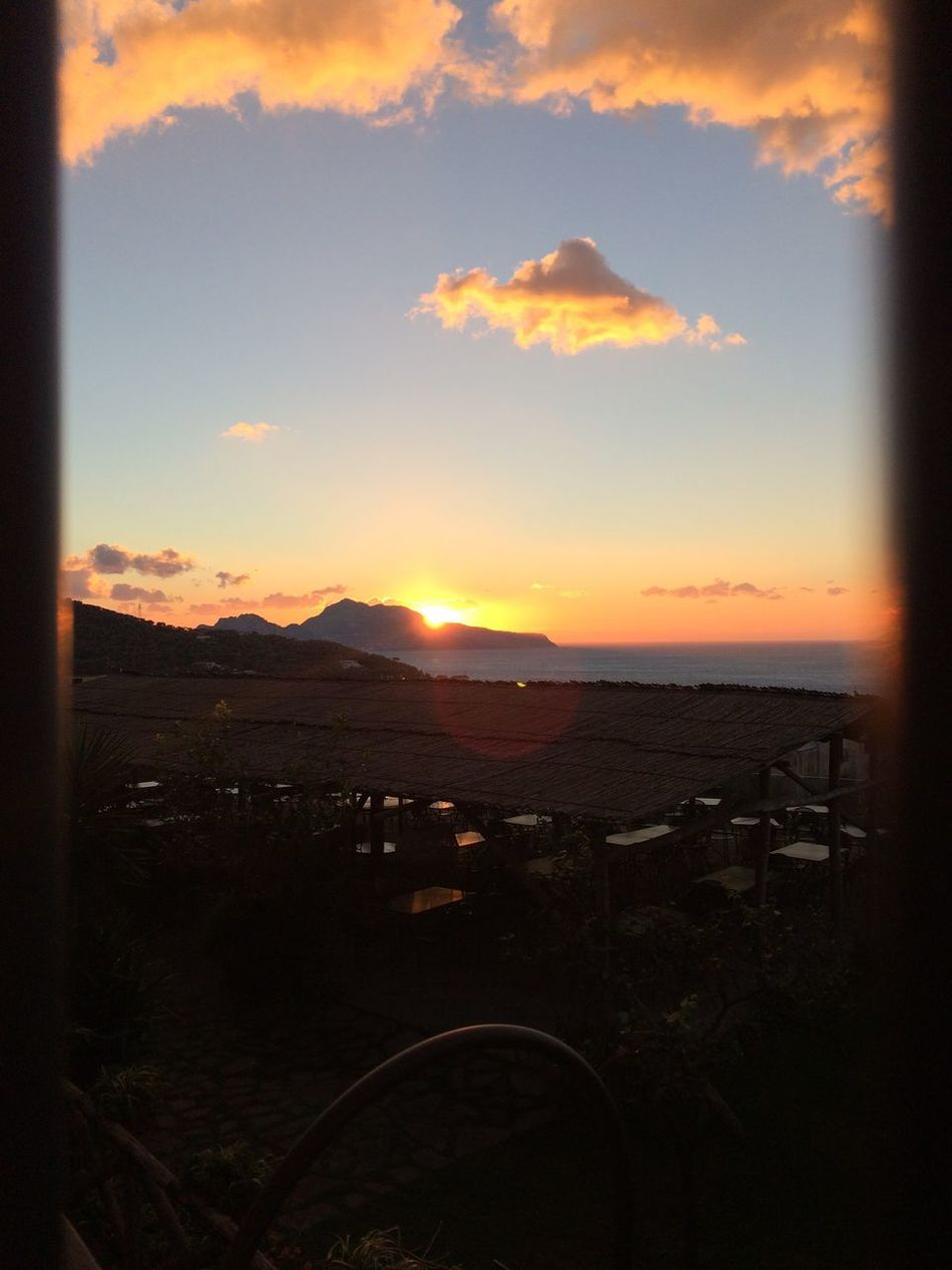 Sunset Sky Mountain Capri Capri, Italy