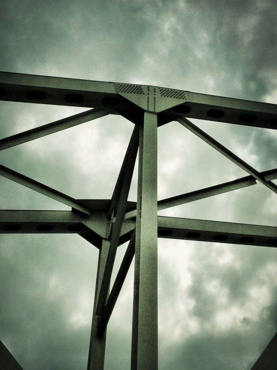 Steel bridge Urban Photography Steel Bridge My Pet Camera Evening Sky Structural Cold Days Blue Filter Impending Storm