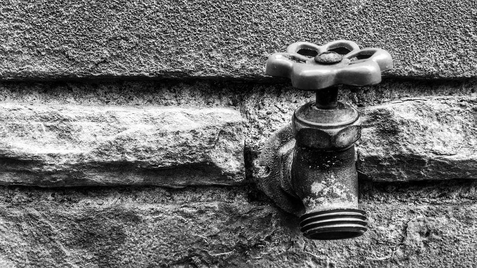 """""""Spigot on a Wall"""" - Thought I would mix it up a bit and post something other than a macro nature pic. Walk by this church all the time. Lots of areas to photograph like benches, statues, even the brick walls are great. This spigot seemed out of place where it was, and was just screaming to be photographed. Wall - Building Feature Outdoors Metal Day No People Built Structure Building Exterior Close-up Blackandwhite Black And White Monochrome EyeEm Best Shots IPhoneography Taking Photos Check This Out Hello World EyeEm Gallery Eye4photography  EyeEm EyeEmBestPics EyeEm Best Edits Brick Wall Spigot Wall Black & White"""
