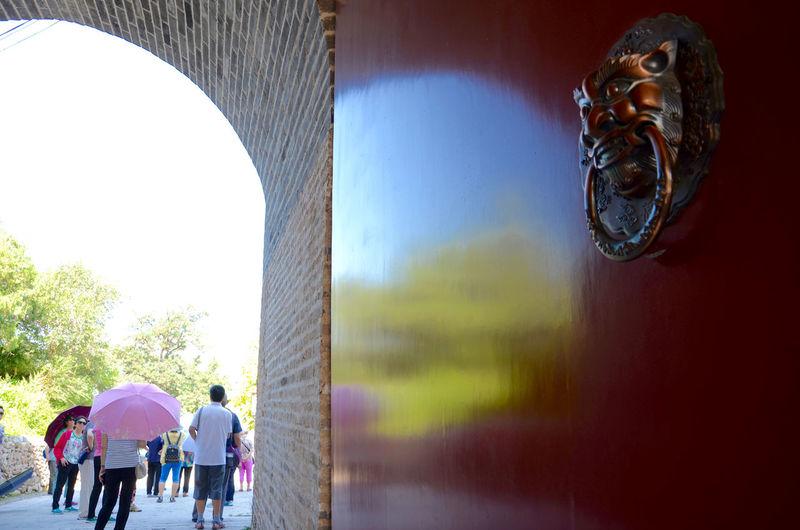 Beijing China Gate Gate Of History Gateway Gubeikou Majestic Gate Reflection Of The Door Reflection On Gateway