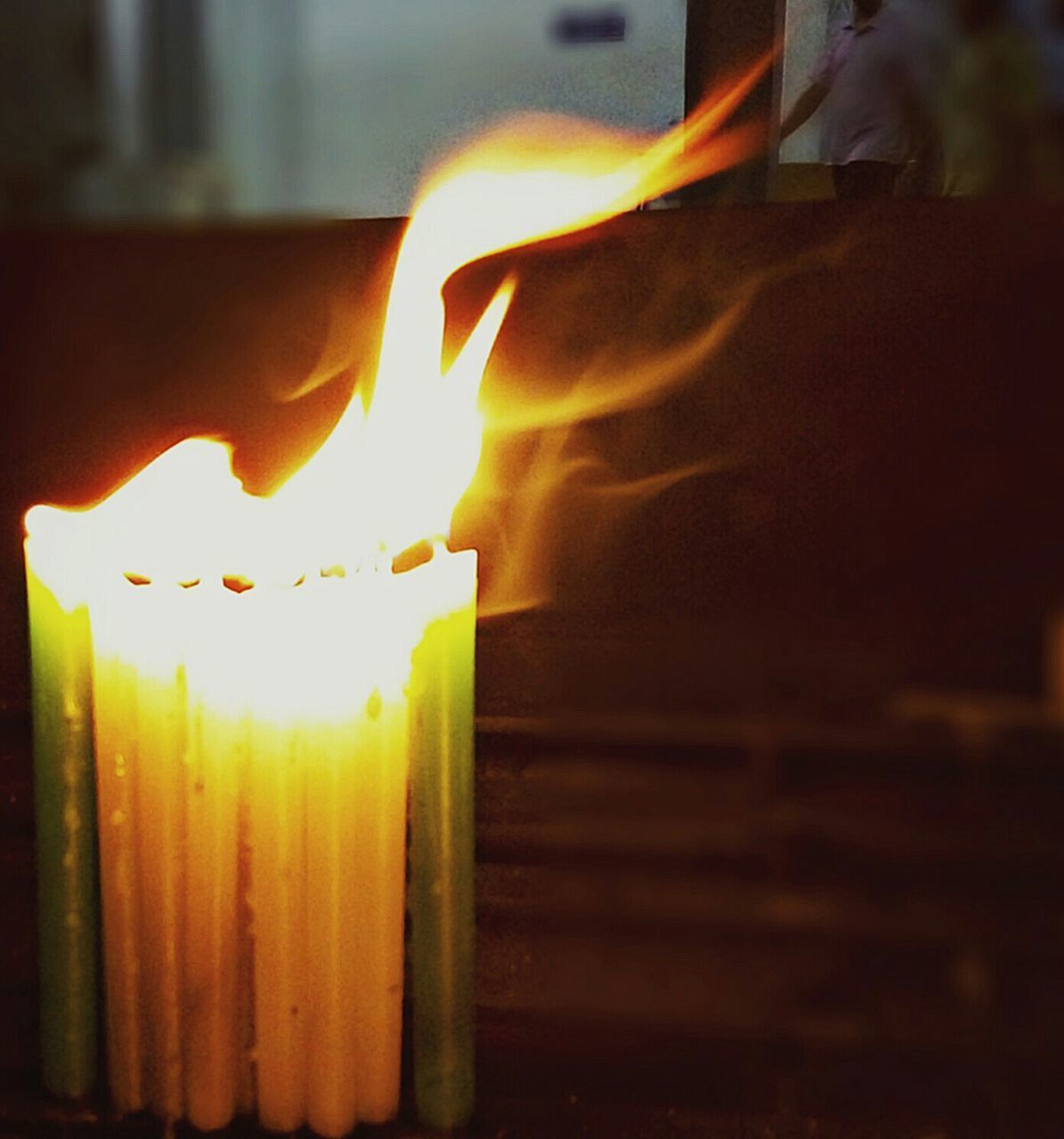 flame, fire - natural phenomenon, burning, heat - temperature, candle, glowing, indoors, no people, close-up, illuminated, night, freshness