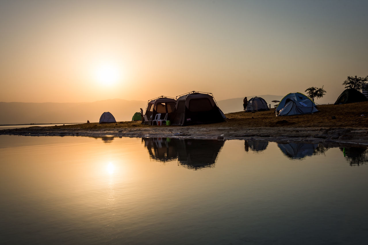 DeadSea Sunrise Camping Deadsea Enjoy The New Normal EyeEm Team Israel Nature Outdoors Reflection Reflection Reflection_collection Reflections Reflections In The Water Shillouette Sunlight Sunrise Sunrise_Collection Sunset Tadaa Community Tent Traveling Water Water Reflections What Who Where My Year My View