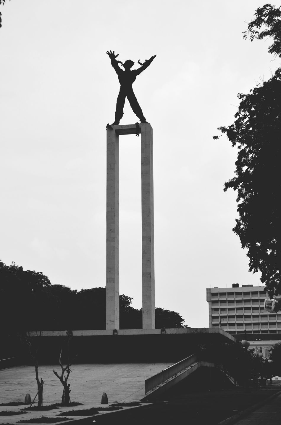The Pembebasan Irian Barat monument representing freedom from Dutch colonialism Monument Irian Barat Jakarta INDONESIA Travel Backpacking Freedom Colonialism
