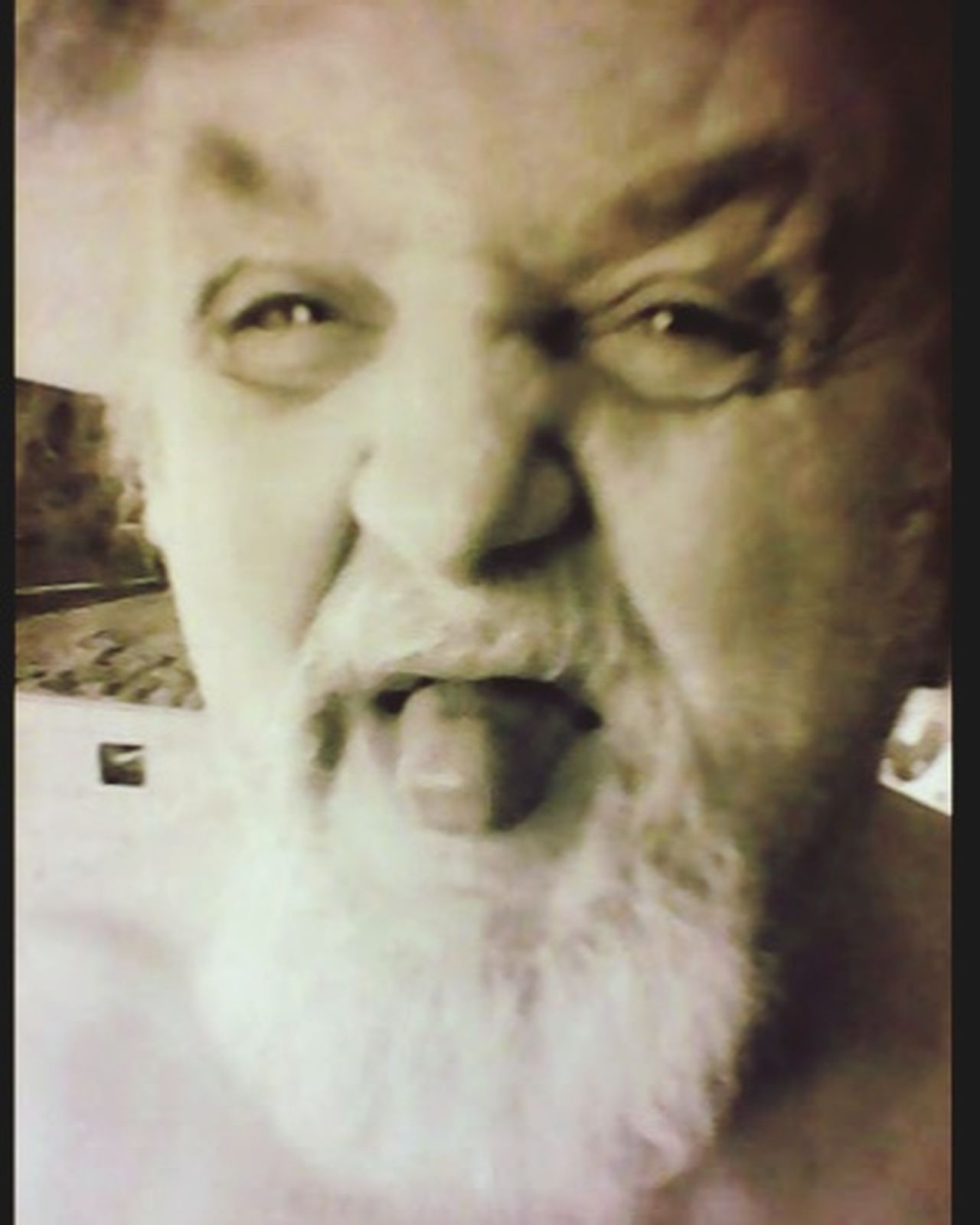 silly Grandpa Having Fun ♥ Silly Face Grandpa Having A Good Time Live, Love, Laugh You Make Me Smile Faces FaceTime Blackandwhite Photography Being Silly Acting Silly (: Love ♥