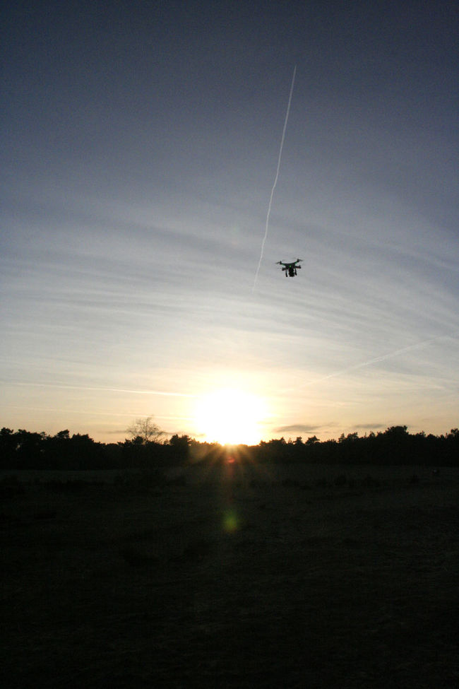 Controling A Drone Drone  Drop Flighing Drone Flying Sky Sunset Winter