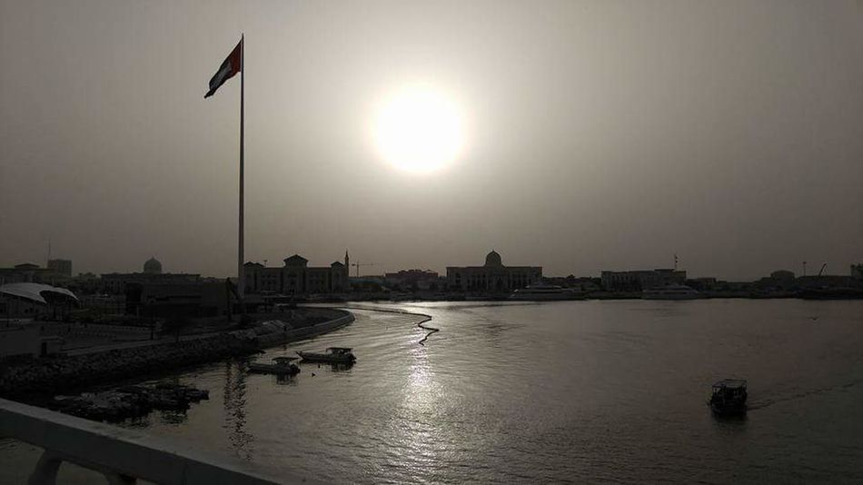Reflection Sun sharjah united arab emirates