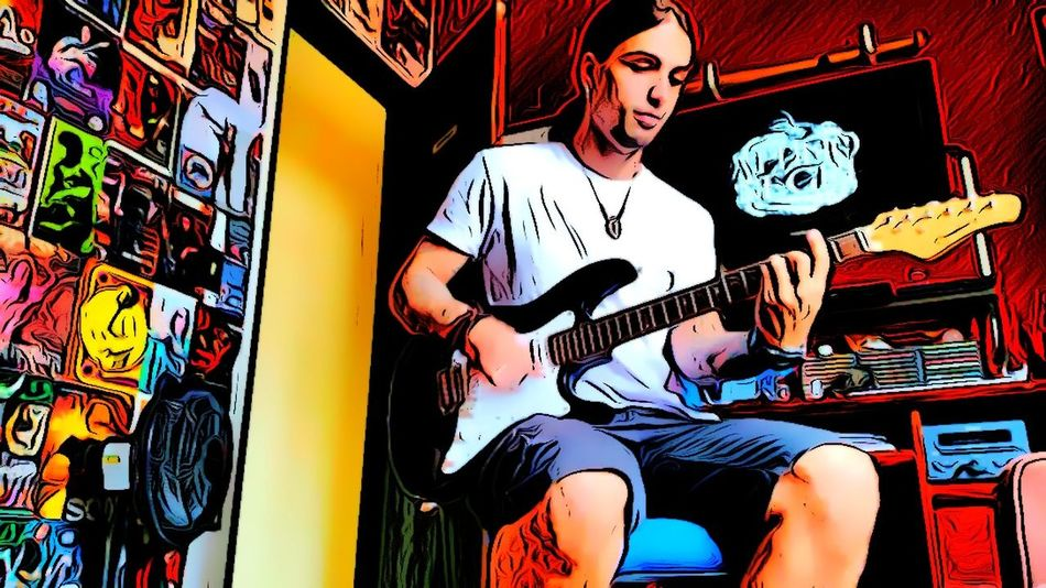 Attilio Negri Fix Luthieria Guitar Lessons Cartoon