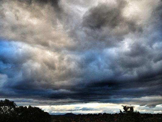 clouds and sky in Canberra by Kevin Thornhill