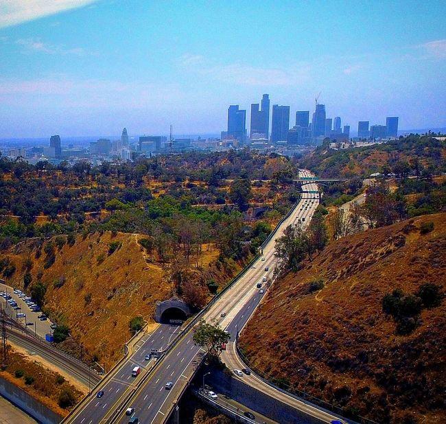 110fwy DowntownLA California Losangeles Cityofangles ABird'sEyeView