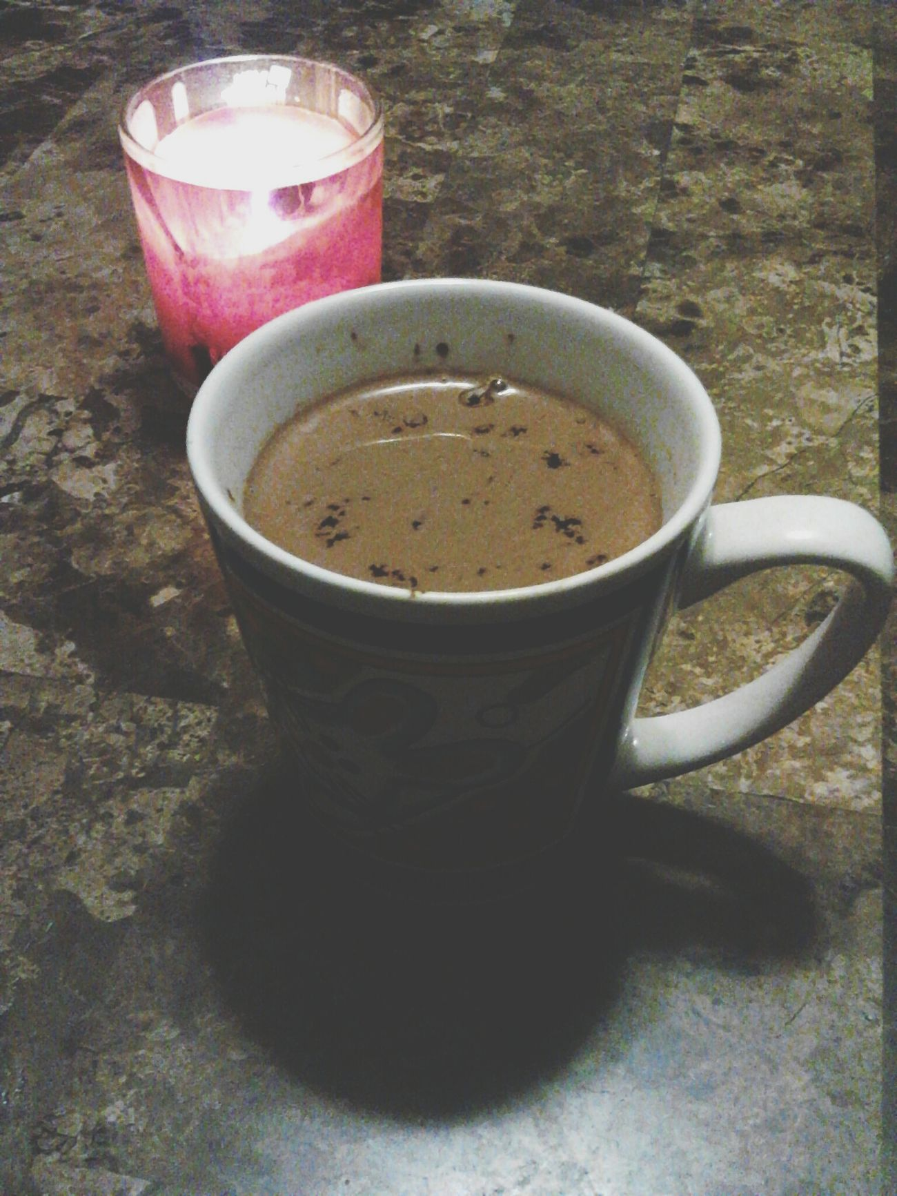*Took by me* Here in Texas we are at 39° It is very cold. Hot chocolate and my favorite candle on to warm this fragile bones♥ Hot Chocolate Candle Spring Breeze Scented Candle