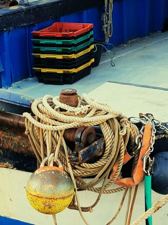 Nautical Vessel Fishing Net Fishing Industry Rope Harbor Fishing Fishing Equipment Fishing Tackle Ship Buoy Pier Moored Strength Transportation Commercial Dock No People Outdoors Water Day Boat Deck