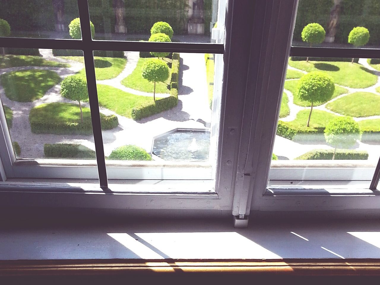 the view ⛲ Window Tree No People Day Indoors  Water Growth Nature Close-up Park 16th Century 17th Century Old-fashioned Pattern, Texture, Shape And Form Garden Garden Photography Green Color Old Window Castle Garden EyeEm Nature Lover Beauty In Nature EyeEm Best Shots - Nature Window View View From The Window... The Architect - 2017 EyeEm Awards Live For The Story
