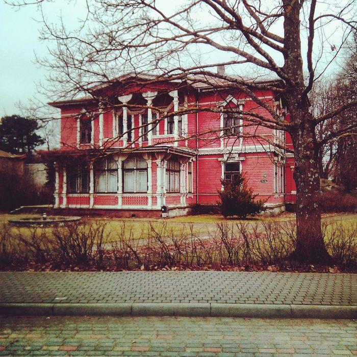 Wooden House Baroche Pink Liepaja Latvia Explore Design Architecture Photoart