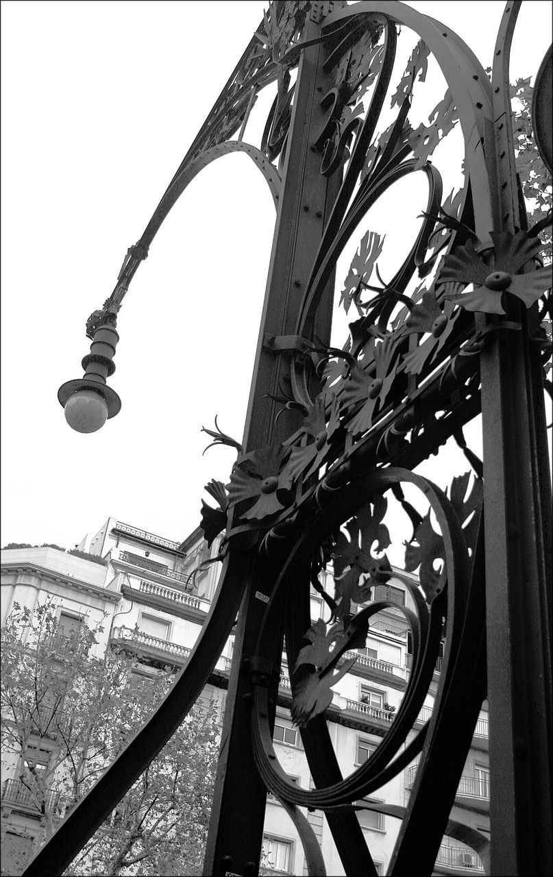 Low Angle View Of Antique Metal Street Light