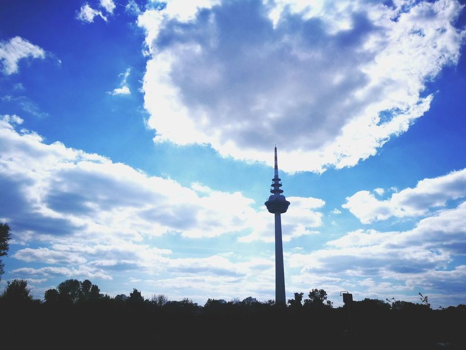 Cloud - Sky Sky Silhouette Low Angle View Outdoors Day No People 3XSPUnity 3XSPhotographyUnity EyeEm Diversity Art Is Everywhere The Secret Spaces Huawei P9 Leica EyeEmNewHere Huaweiphotography HuaweiP9 Architecture Mannheim Fernsehturm Fernmeldeturm Neckar Mannheim Germany Clouds And Sky Heaven