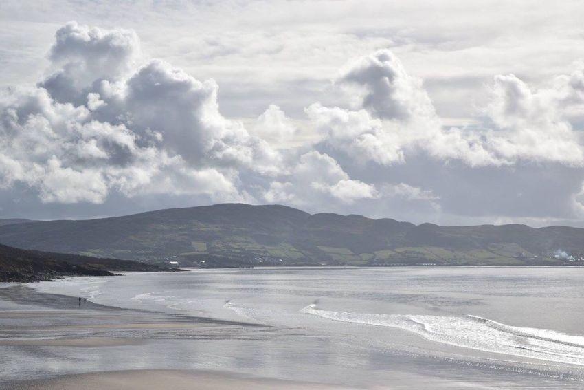 Stragill beach. Landscape_photography Nikon Ireland Nature Beauty Clouds Beach Sky Photography Inishowen