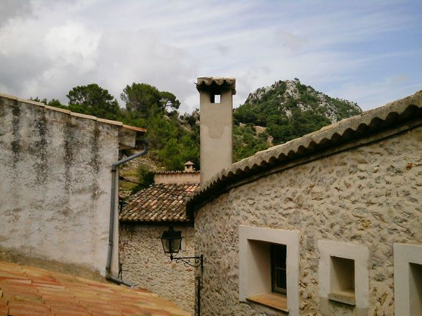 Built Structure Wall - Building Feature Rural Scene Bergdorf Mountain Village Chimney Mallorca Village Roof Stone Wall Tiled Roof  Tiles