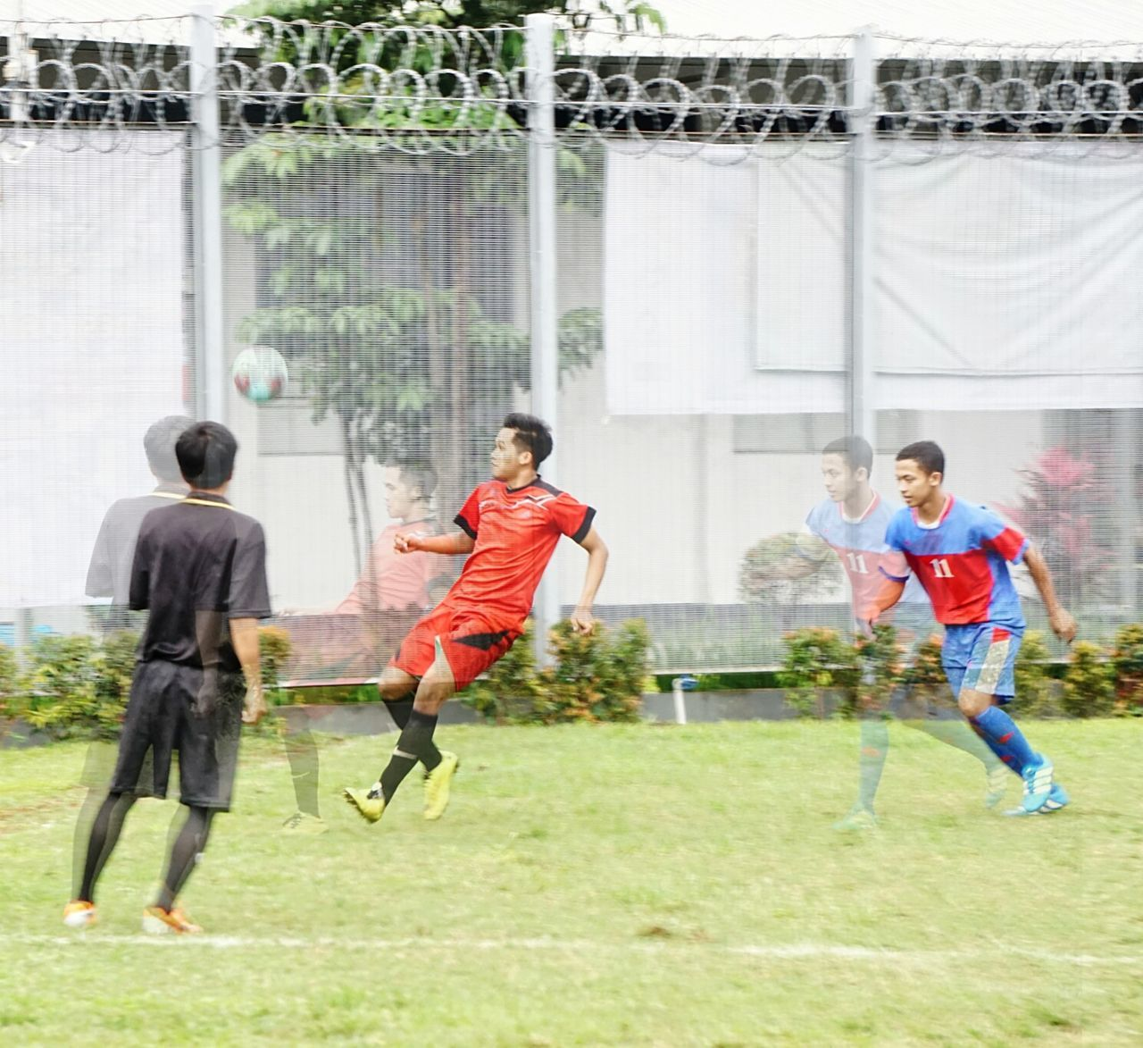 Bandung. Go get the Ball. Football Soccer Soccer Player Playfootball Sport DoubleExposurePhotography Double Exposure Competition Boys Motion Outdoors