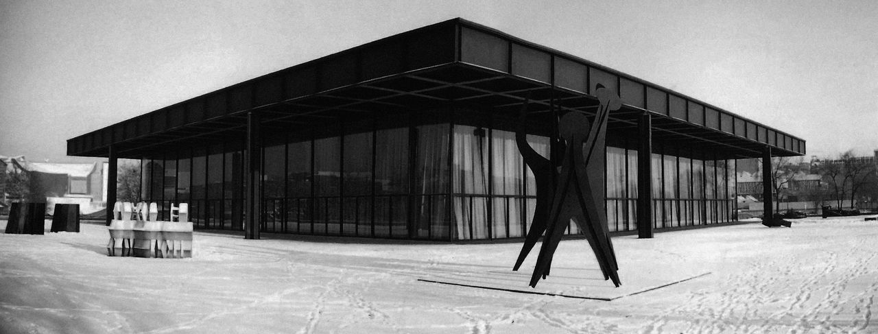 A scan of an old film photo I took some years ago. Architectural Feature Architecture Architecture Berlin Building Exterior Built Structure Europe Germany Glass - Material Mies Van Der Rohe Modern Neue Nationalgalerie Outdoors Public Building