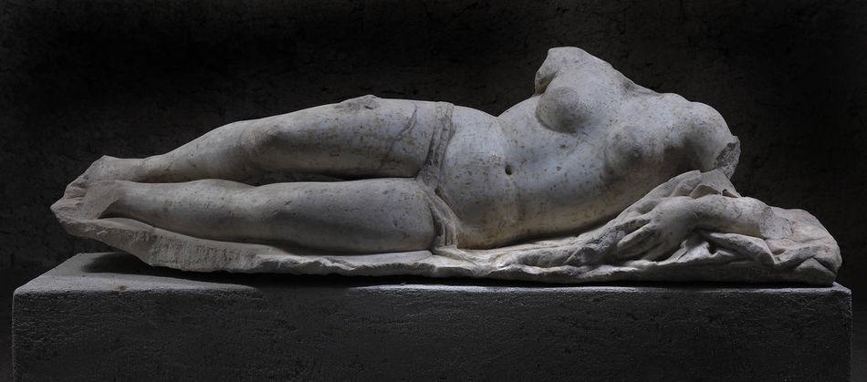 Ancient Civilization Black Background Certosa Di Padula Certosa San Martino Close-up Day Fountain Indoors  Naples, Italy No People Renaissance Statue