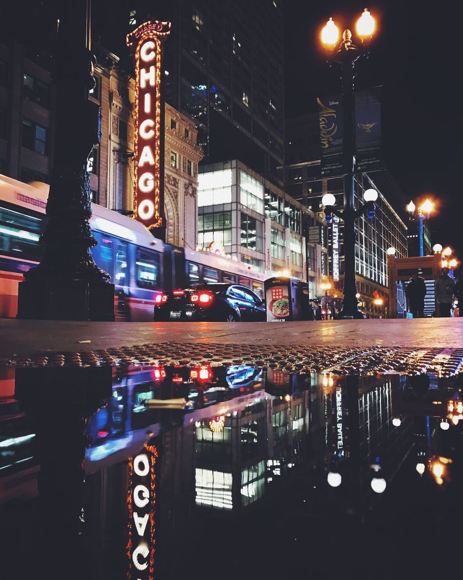 Night Architecture City Street Loop Street Photography Chicago