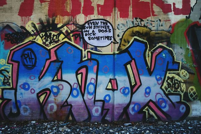 Even the sun shines.... Graffiti Writing On The Walls This Is New England
