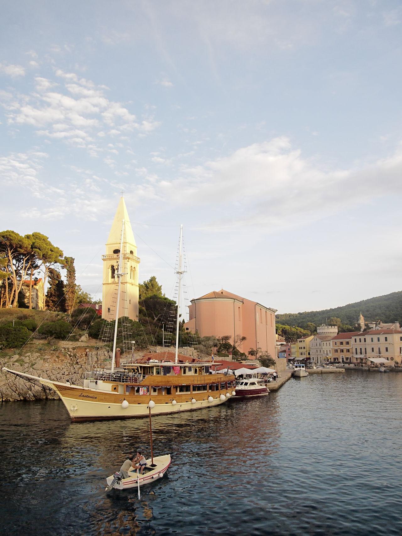 Architecture Building Exterior Church City Clouds Croatia Fresh On Eyeem  Mali Lošinj Nautical Vessel Olympus OlympusPEN Sky Travel Destinations Water Zuiko Zuiko Digital