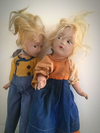 Dolls Conspire Worn Out Entropy Damaged Vintage Dolls Vintage Dolls Distressed Vintage Toys EyeEm Selects Childhood Indoors  Girls Togetherness Blond Hair Home Interior Child Doll Day Friendship Close-up