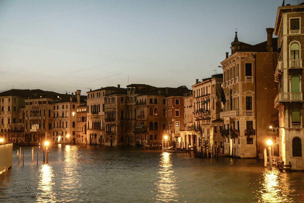 Architecture Building Exterior International Landmark Lights On Water Old Town Tourism Venice, Italy Water Reflections Cities At Night
