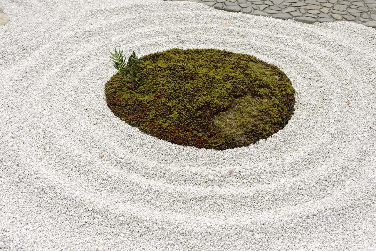 Close-up Day High Angle View Nature No People Outdoors Pattern Pebbles Sand Zen Zen Garden