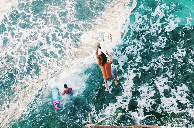 Capturing Motion High Angle View Real People Adventure Lifestyles Outdoors Sea Water Vacations Nature Surf Surfing Philippines Beach Island Waves Life Is A Beach Surf's Up Stoked Ocean Wave Cloud 9 People Of The Oceans Eyeem Cebu Island Life
