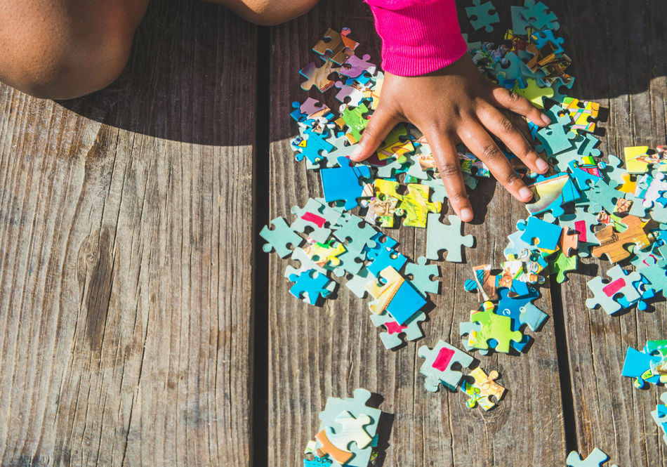 Beautiful stock photos of puzzle,  3-4 Years Old,  African Ethnicity,  Child,  Close-Up