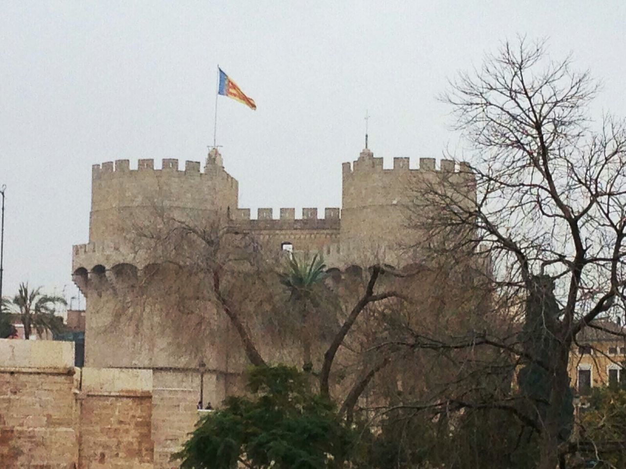 I have never taken the photo of these towers from this point. It is also a nice shot. Old Stones Old Tower Tower Old Architecture Winter Trees Spanish Winter Warm Winter Day Fortification Torres De Serrano Valencia, Spain