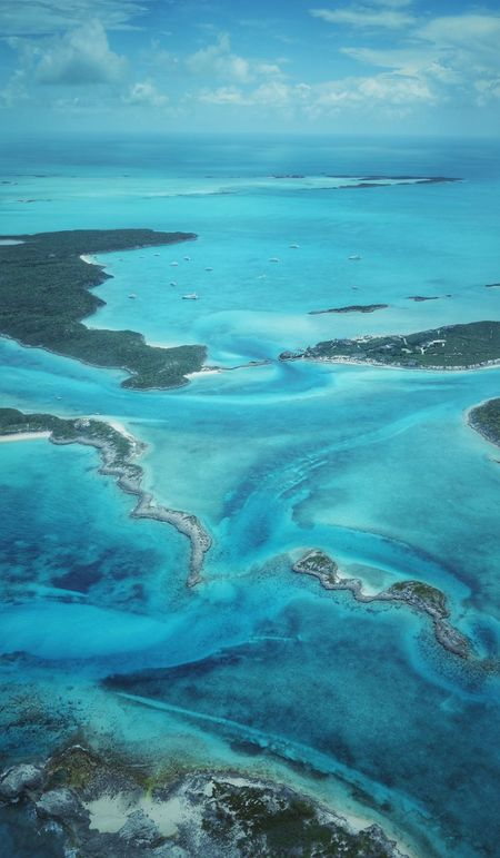 Pig Beach-Staniel Cay Bahamas Aerial Photography Outdoors Scenics Yacht Sea And Sky Islands Sea Beauty In Nature Exuma Clear Water Beach Nature Aerial Shot Blue No People