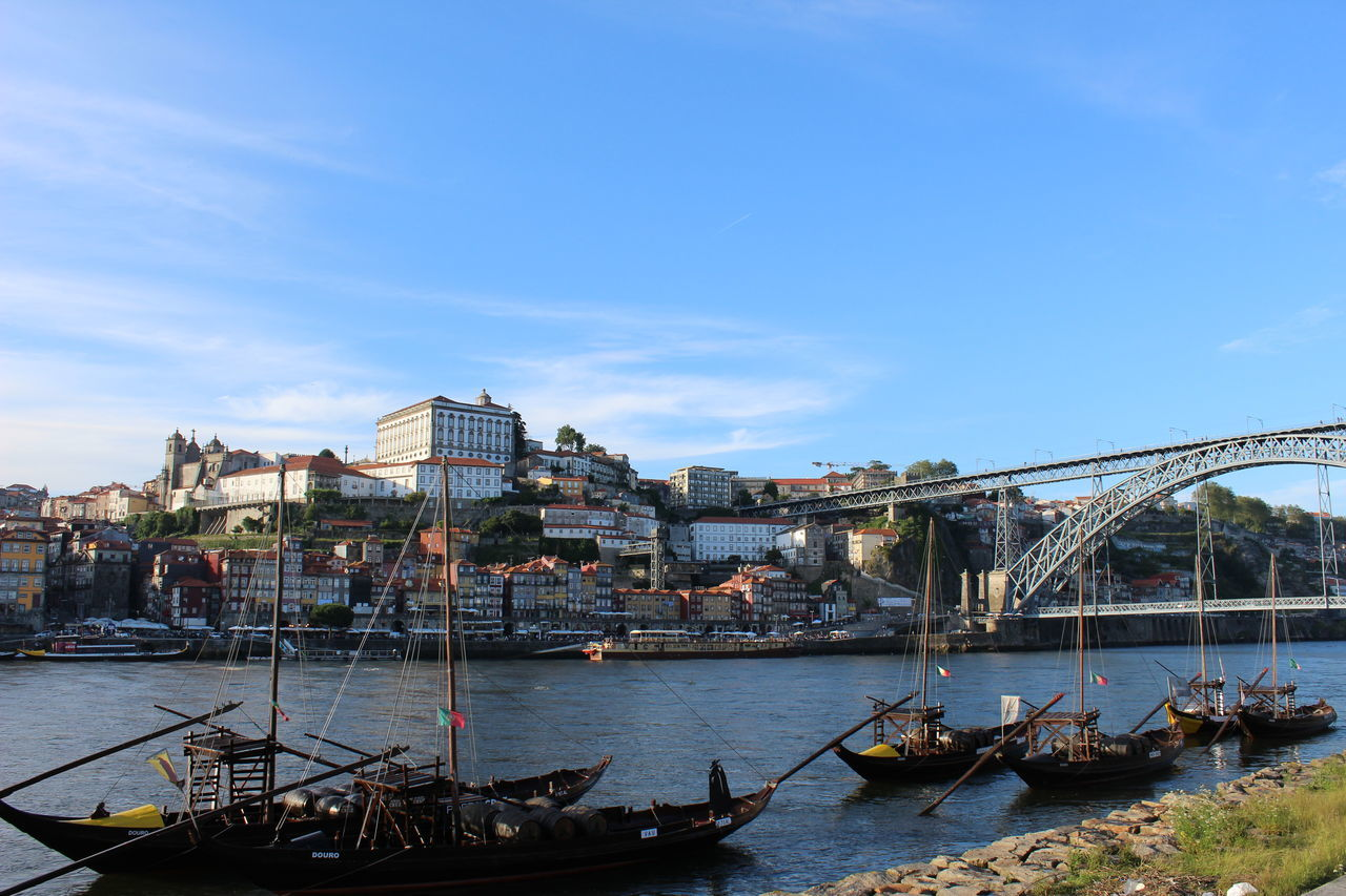 Architecture Blue Sky City Cityscape Douro  No People Outdoors Porto Portugal River Sky Travel Destinations Water