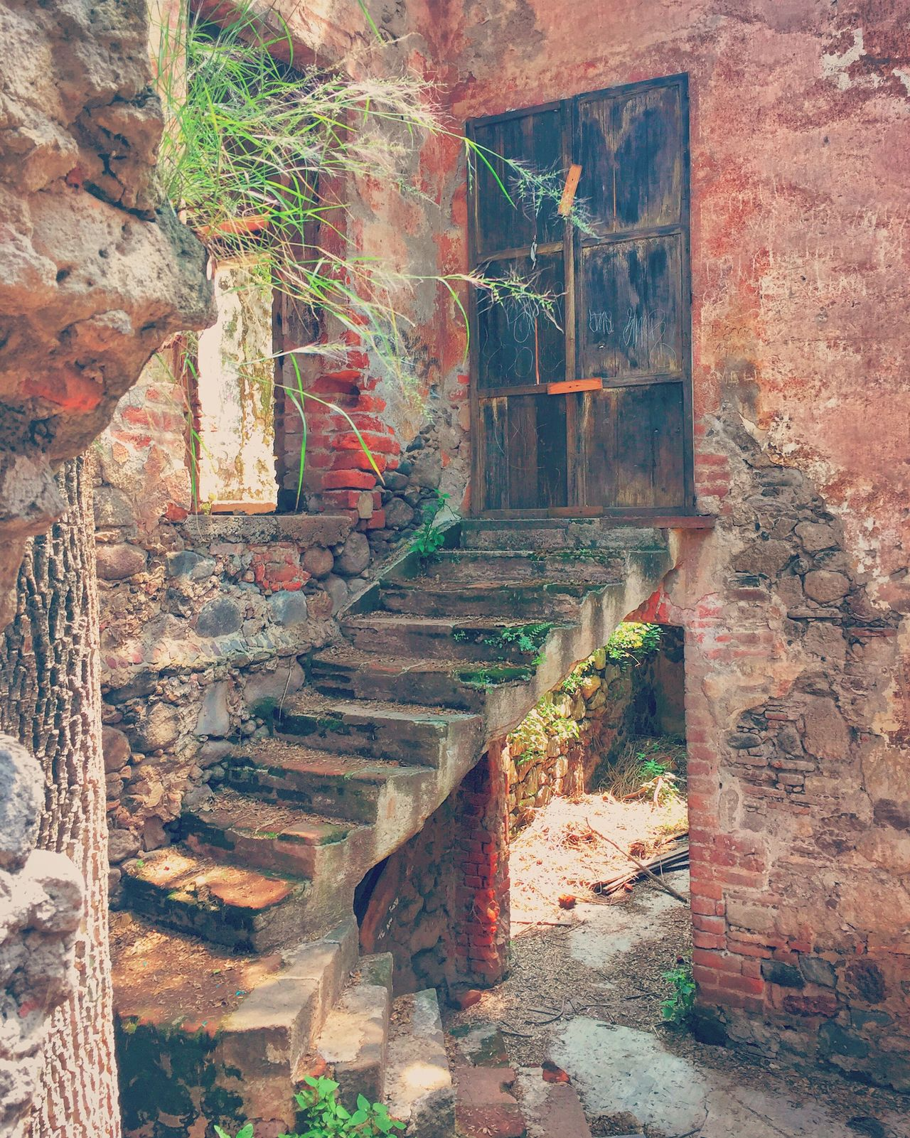 Molino De Flores Door Puerta Escaleras Mexico Photography Stairs