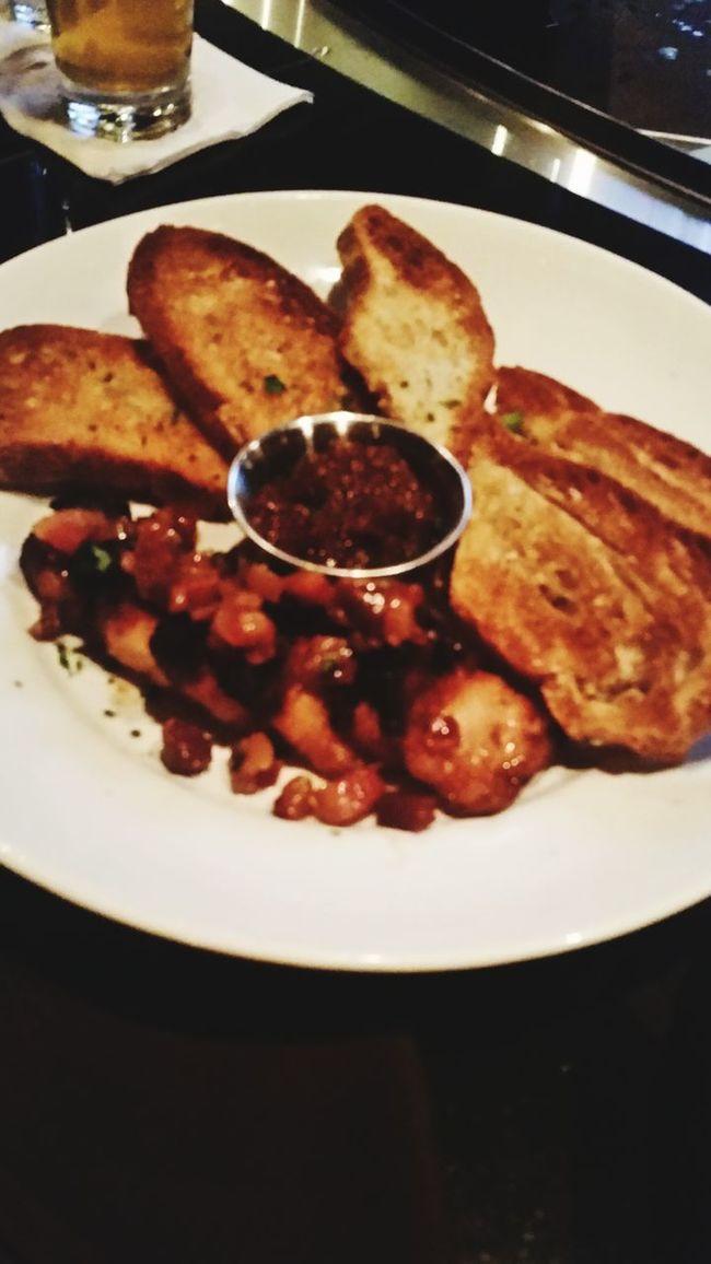 Pork belly with tomato jam