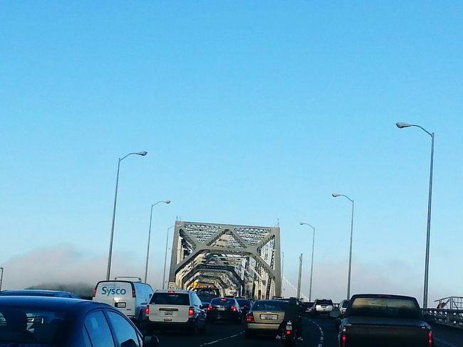 2014 Bay Bridge, San Francisco Car Transportation Traffic Land Vehicle Mode Of Transport Road Sky No People Outdoors Day City Water