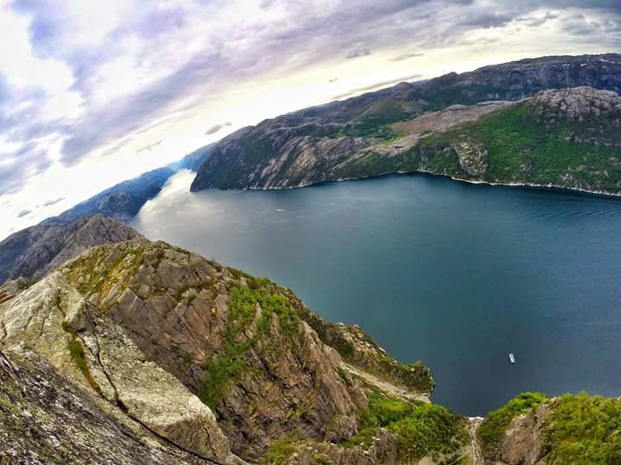Norway Norge Lysefjord Fjordsofnorway Preikestolen Norgefoto Landscape Outdoors Beauty In Nature Nature Worldplaces Photography Traveltheworld Goprophotography Travel Photography Aroundtheworld Gopro Worldcaptures Scenics Eyemphotography Goprotravel Rogaland Ryfylke Friluftsliv Traveladdict