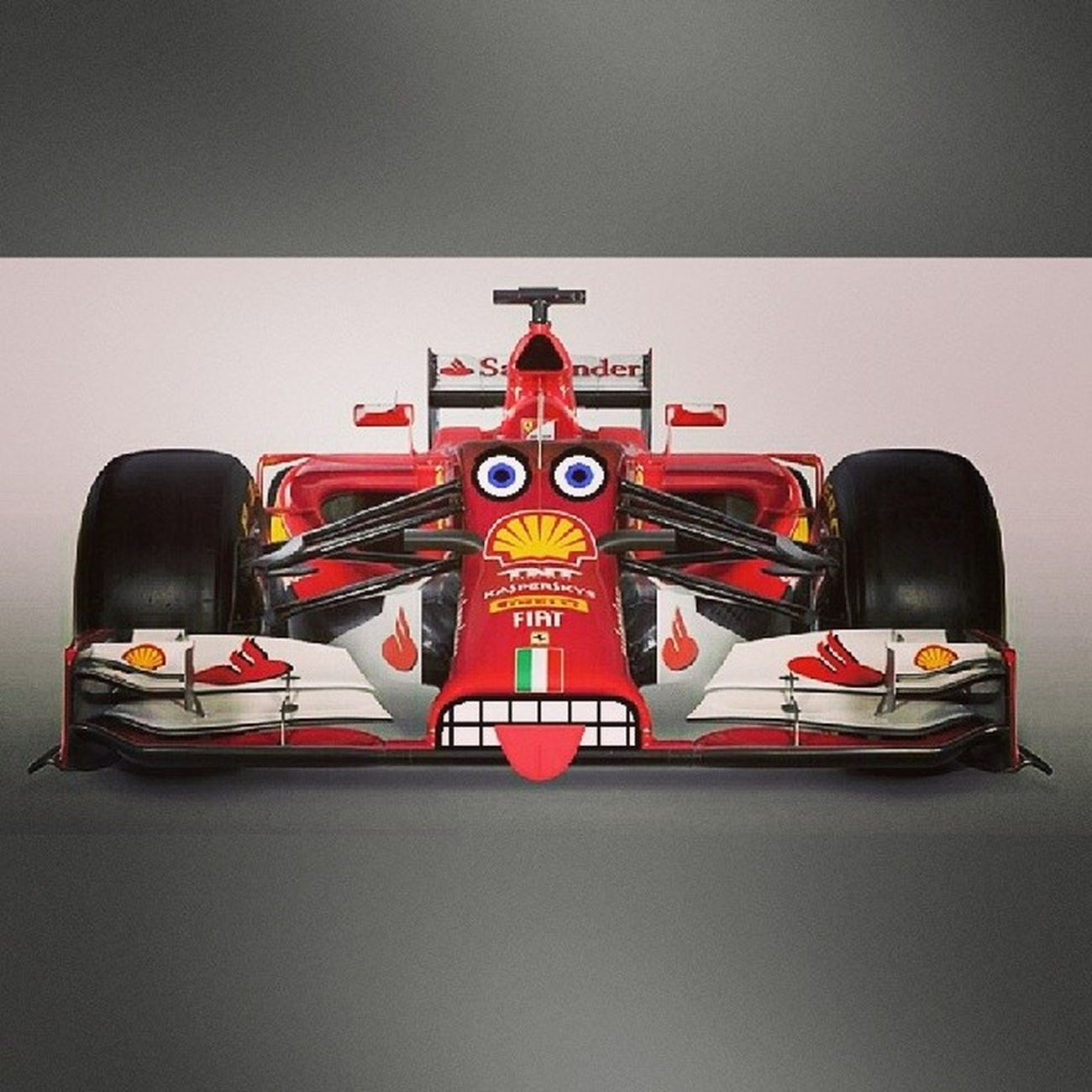 Scuderia Ferrari F14t Fiat Formula1 такой странный болид в 2014
