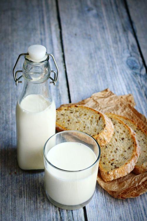 Food Porn Fresh Bread Milk Food Everyday Food Glass