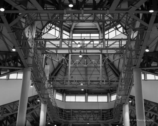Structural beams and columns Architecture Beams Built Structure Day Indoors  Interior Design Low Angle View No People Structural Design Structural Steel
