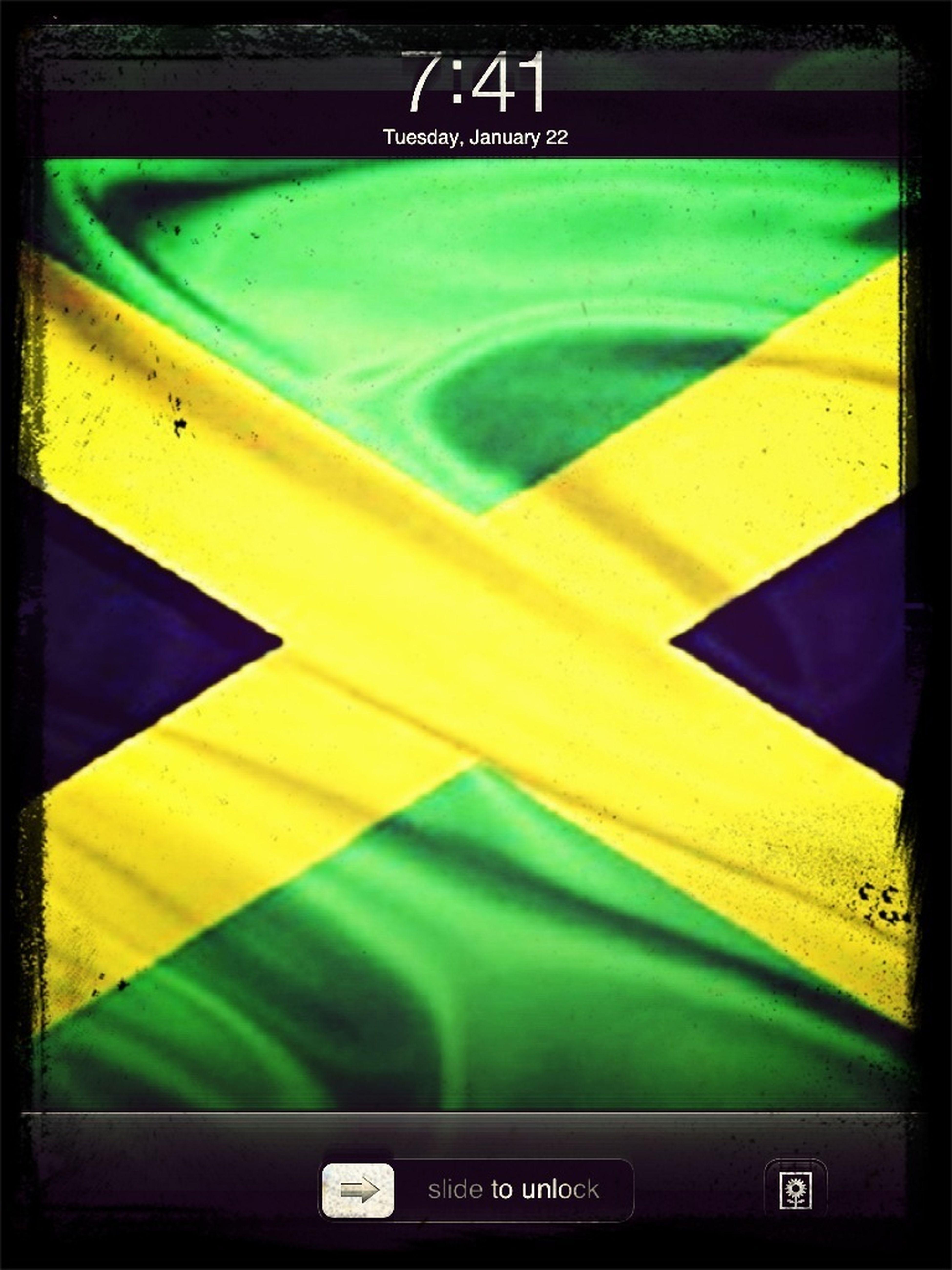 Jamaican Flag My Backround